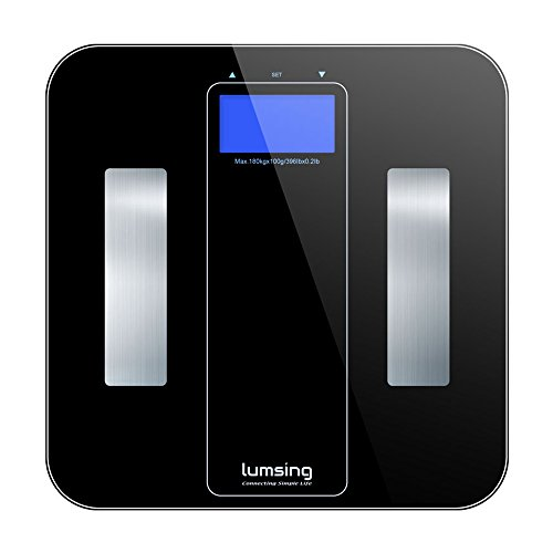Lumsing Digital Body Fat Scale – Digital Smart Bathroom Scale for Body Weight, BMI, Body Fat, Body Water, Muscle Mass, Bone Mass and Calorie