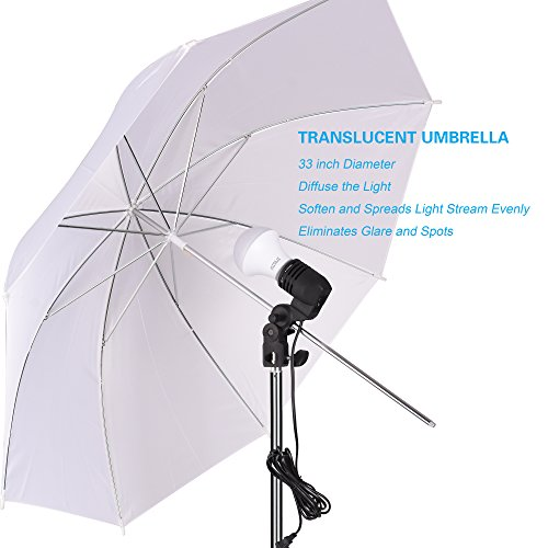 Emart Studio LED Photography Umbrella Lighting Kit, 500W 5500K LED Photo Lights for Camera Lighting, Continuous Lighting, Portrait Video Shooting – Umbrella Reflector Light by EMART (Image #3)