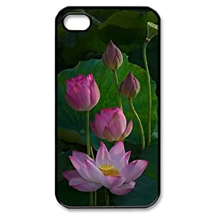 ALICASE Diy Customized hard Case Water Lily For Iphone 4/4s [Pattern-1]