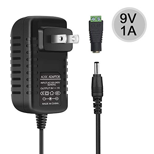 Price comparison product image inShareplus 9V Low Voltage Power Supply,  Transformer,  Power Adapter,  DC 9V 1A,  9 Watt Max,  AC 100-240V to DC 9V,  with 5.5 / 2.1 DC Female Barrel Connector