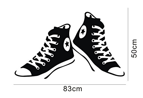 Line Art Shoes : Colorfulhall all star converse shoes wall sticker decals art room