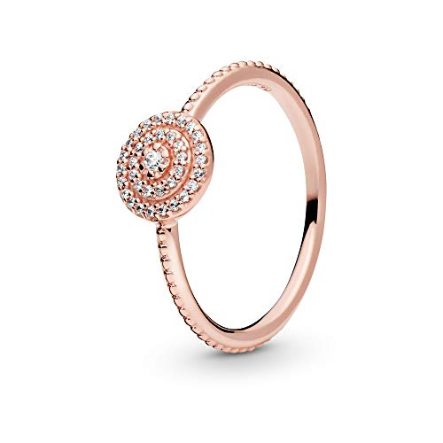 Pandora Jewelry - Elegant Sparkle Ring for Women in Pandora Rose with Clear Cubic Zirconia, Size 9 US / 60 EURO from PANDORA