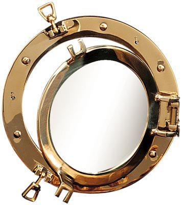 21'' Polished Brass Nautical Porthole Window by HS