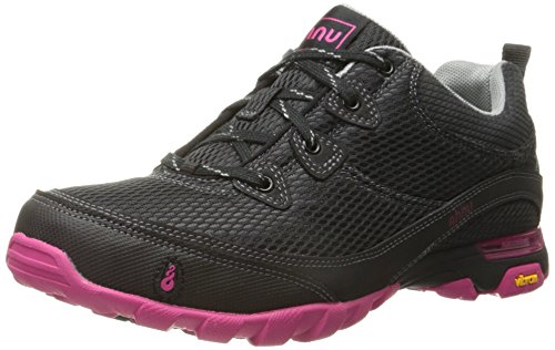 Ahnu Women's Sugarpine Air Mesh Hiking Shoe, Black/Pink, 10.5 M US