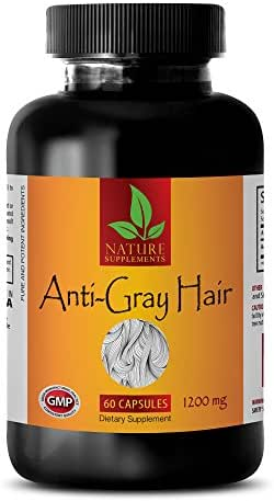 Rejuvenation for Men - Anti-Gray Hair 1200 Mg - Nettle Bulk - 1 Bottle (60 Capsules)