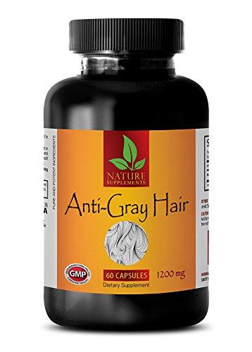 rejuvenation dietary supplement - ANTI-GRAY HAIR 1200 Mg - nettle leaf extract - 1 Bottle (60 Capsules)