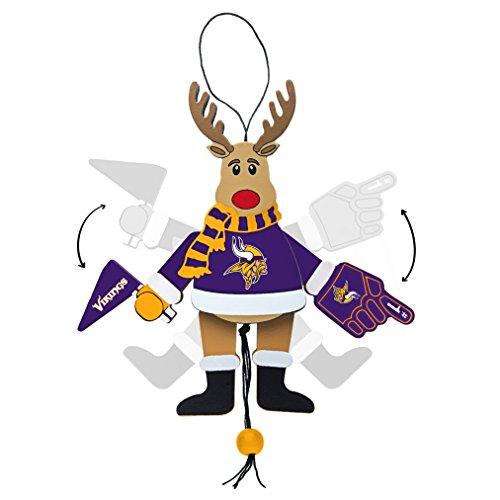 NFL Minnesota Vikings Wooden Cheer Ornament