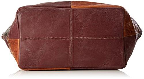 Think Bag, Borse a spalla Donna Rosso (Vino/Kombi 37)