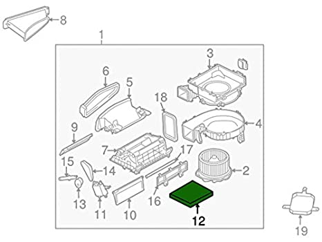 Amazon Com Nissan 27277 Vp01a Filter Air Automotive