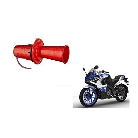 Autocraze Loud Hooter Dog Horn Red for Bajaj Pulsar rs 200