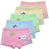 Czofnjesi Girls Boyshort Hipster Panties Cotton Panty Underwear (Pack of 5) (3-5 Years, H)