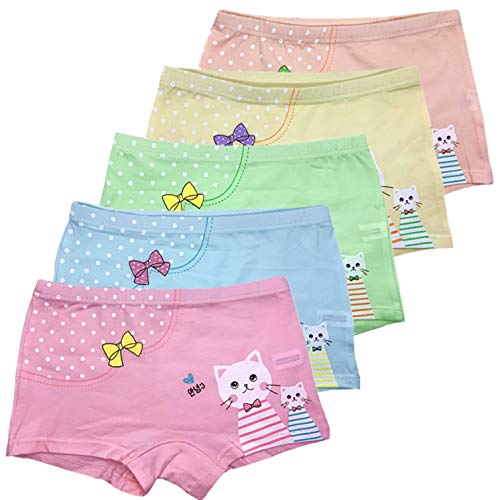 (Czofnjesi Girls Boyshort Hipster Panties Cotton Panty Underwear (Pack of 5) (8-10 Years, H))
