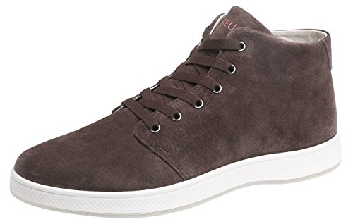 Aureus Mens Patron Nubuck Leather High Top Shoe Dark Brown