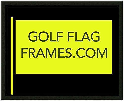 - Custom Size Golf Flag Frame; Black Moulding 416 (Flag 14x22, Black mat)