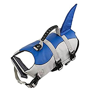 Pet Dog Life Jacket Professional Dog Swimming Clothes Small Medium and Large Dog Buoyancy Swimsuit Dog Swimsuit Rescue… Click on image for further info.