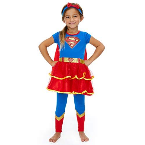Supergirl Halloween Costume Toddler (DC Comics Supergirl Toddler Girls Costume Dress Cape Leggings & Headband)