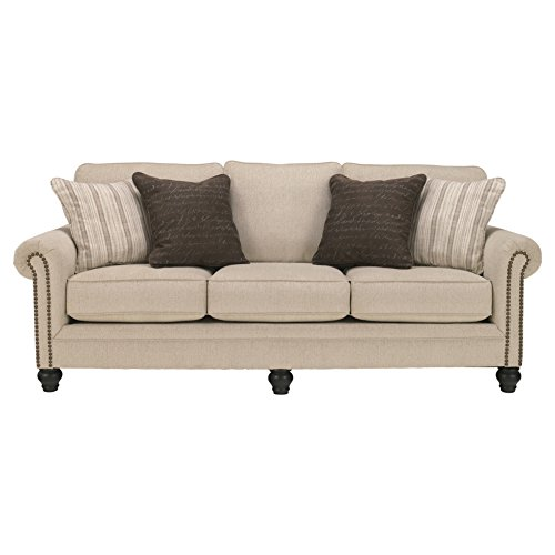 Ashley Furniture Signature Design - Milari Sofa - Classic Style Couch - Linen ()