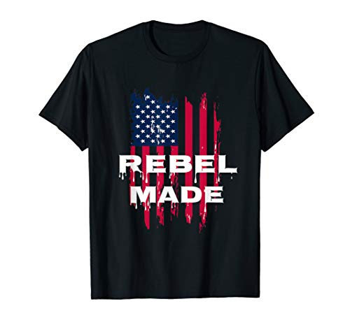 Rebel Made American Flag T-Shirt ()