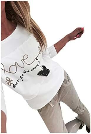 Sunward(TM) Women Long Sleeve Chiffon Off Shoulder Shirts