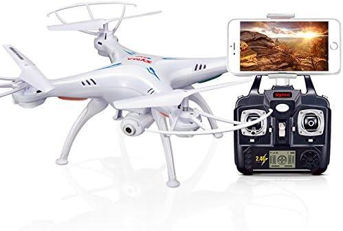 LanLan SYMA X5SW Drone con cámara WiFi Transmisión en Tiempo Real ...