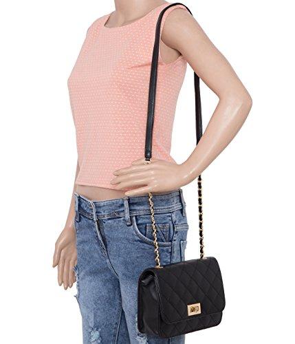 ADISA SL5008 women/girls quilted sling bag
