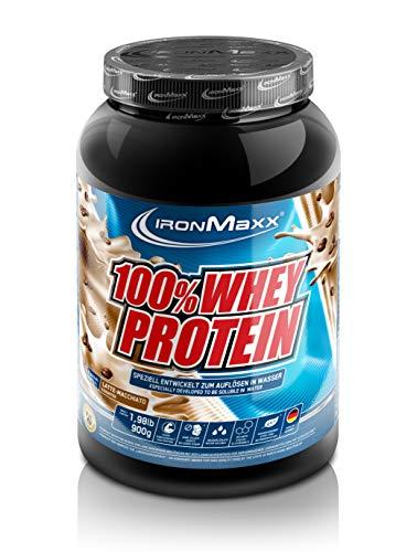 IronMaxx 100% Whey Protein – Wasserlösliches Whey Eiweißpulver – Proteinshake mit Latte Macchiato Geschmack – 1 x 900 g…