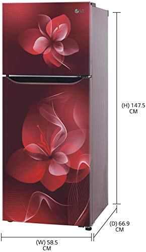 LG 260 L 2 Star Inverter Frost-Free Double Door Refrigerator (GL-S292DSDY, Scarlet Dazzle, Convertible) 2021 July Frost Free Refrigerator: Auto defrost function to prevent ice-build up Capacity 260 L: Suitable for families with 3 to 4 members or bachelors Energy Rating: 2 Star