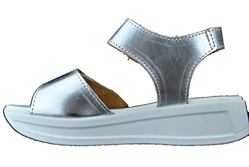 INART...DONNA - Sandalias de vestir de piel sintética para mujer plateado plateado