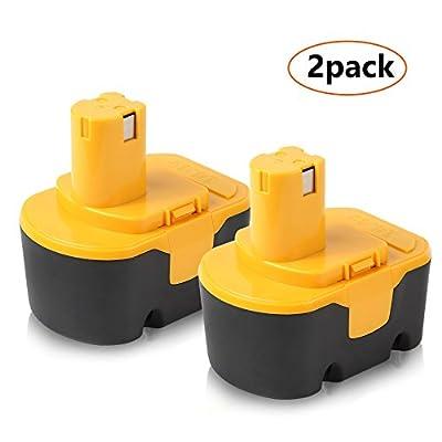 Ryobi 14.4V Battery, Enegitech 2Pack 3.0Ah Ni-MH Battery for Ryobi 130224010 130224011 130281002 1314702 1400144 1400655 1400656 1400671 4400011 Cordless Power Tools