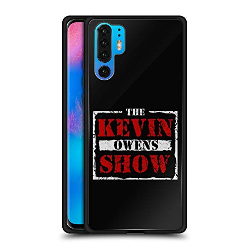 Official WWE The KO Show Kevin Owens Black Hybrid Glass Back Case Compatible for Huawei P30 Pro ()