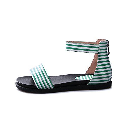 Green Vert Ouvert 5 36 AdeeSu Femme Bout qFIWfaw8
