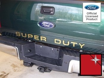 08-16 Ford F250 Super Duty Tailgate Insert Letters Decal Sticker Chrome Mirror