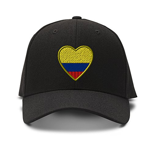 Heart Colombia Flag Embroidery Embroidered Adjustable Hat Baseball Cap (Heart Flag Embroidery)