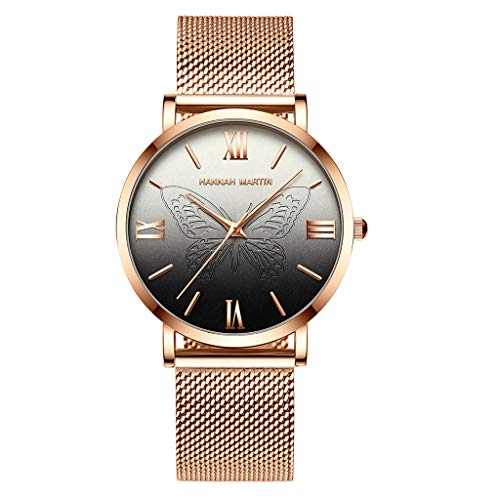 Fashion Watches 2019 Women Waterproof Stainless Steel Bracelet Round Dial Quartz Wrist Watch (Black, Free size) (Best Guitar Amp Sim 2019)