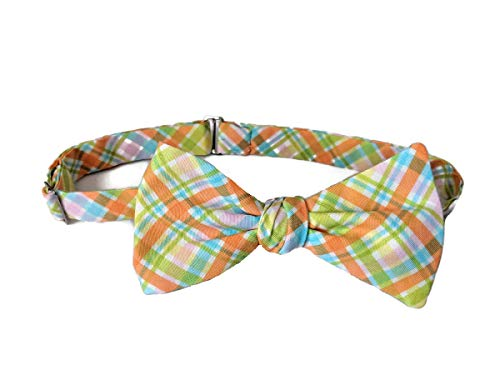 Men's Self-tie Spring Easter Plaid Bow Tie Holiday Design (Mens)