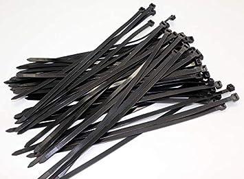 King.MI 100 x cable corbata 100 mm x 2,5 mm Bases brida de ...