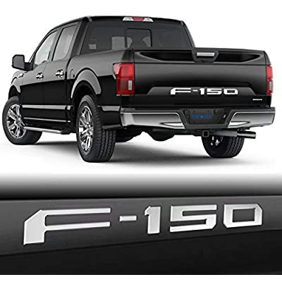 SUPAREE F150 2020-2020 Tailgate Insert Letters - 3D Raised Tailgate Decal Letters - Chrome: Automotive