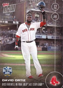 Amazoncom 2016 Topps Now 245 David Ortiz Commemorative Baseball