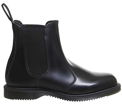 On Size Black Leather 8 Flora 8 Dr Women's Boot Pull Martens Black C8wv86XqSx
