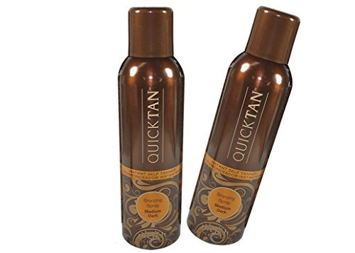 Body Drench Quicktan Quick Tan Bronzing Spray Medium Dark (The Perfect Ultra Bronzing Self-tanner a Fast-drying Formula) - Size 6 Oz / 170g (Pack of 2)