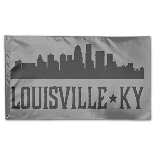 (WINDST Personalized Louisville Kentucky Skyline KY Cities Logo Garden Flag 3x5 ft Outdoor Garden Decorative Banner)