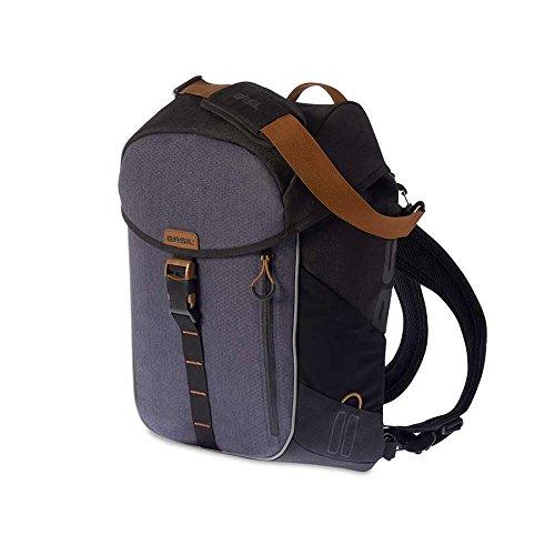 Basil Miles Daypack Bike Pannier & Backpack - 17L (Slate)