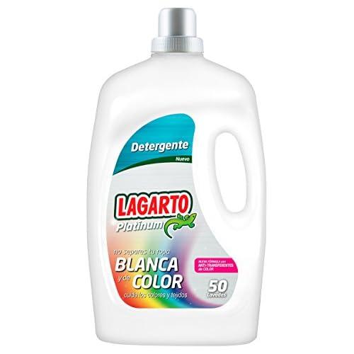 chollos oferta descuentos barato Lagarto Platinum Detergente Liquido para Lavadora 3250 ml pack 4 botellas