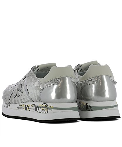 Leather PREMIATA Silver Women's Sneakers CONNY2969 qqAwxBZrtn