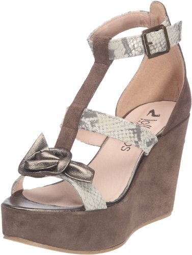 mujer para Wedge Leather 16322 Myflower Lollipops Sandalias Beige ZCw4qRxY