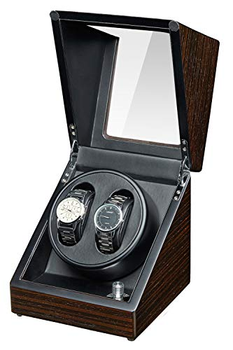JQUEEN Watch Winder with Quiet Japanese Mabuchi Motor (Ebony)