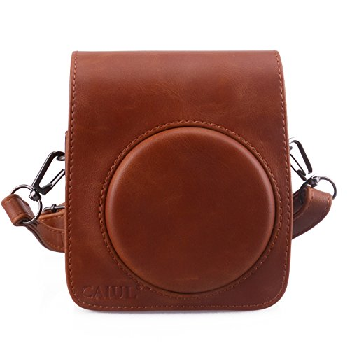 CAIUL Compatible Comprehensive Protection Mini 70 Case Bag with Soft PU Leather Material for Fujifilm Instax Mini 70 Camera - Brown ()