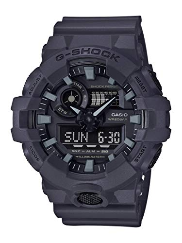 Casio Men's XL Series G-Shock Quartz 200M WR Shock Resistant Resin Color: Matte Grey (Model GA-700UC-8ACR) (Gray Watches For Men)