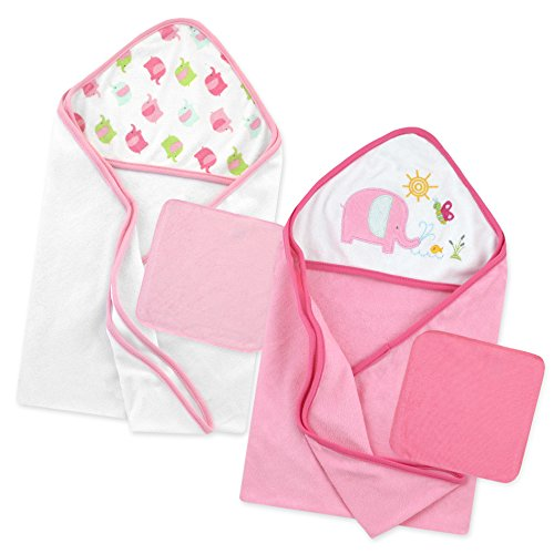 Born Wrap (Just Born Love to Bathe Elephant Bath Set, Pink)
