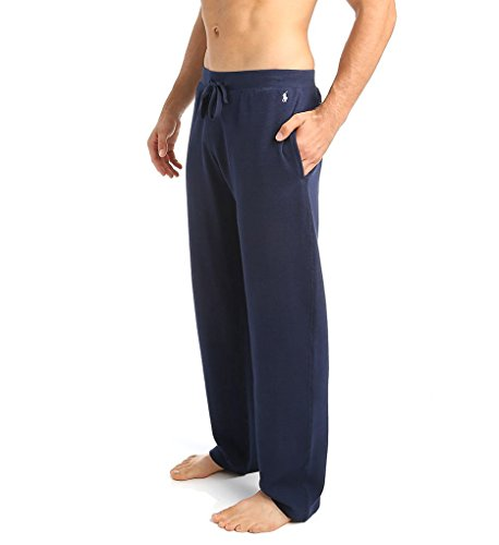 (Polo Ralph Lauren Waffle Knit Lounge Pants (Small, Cruise Navy))